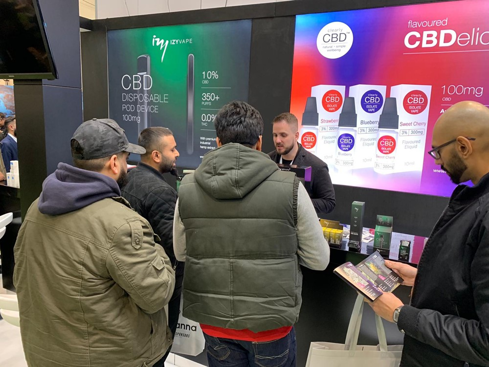Elda at first Hemp & CBD Expo in UK