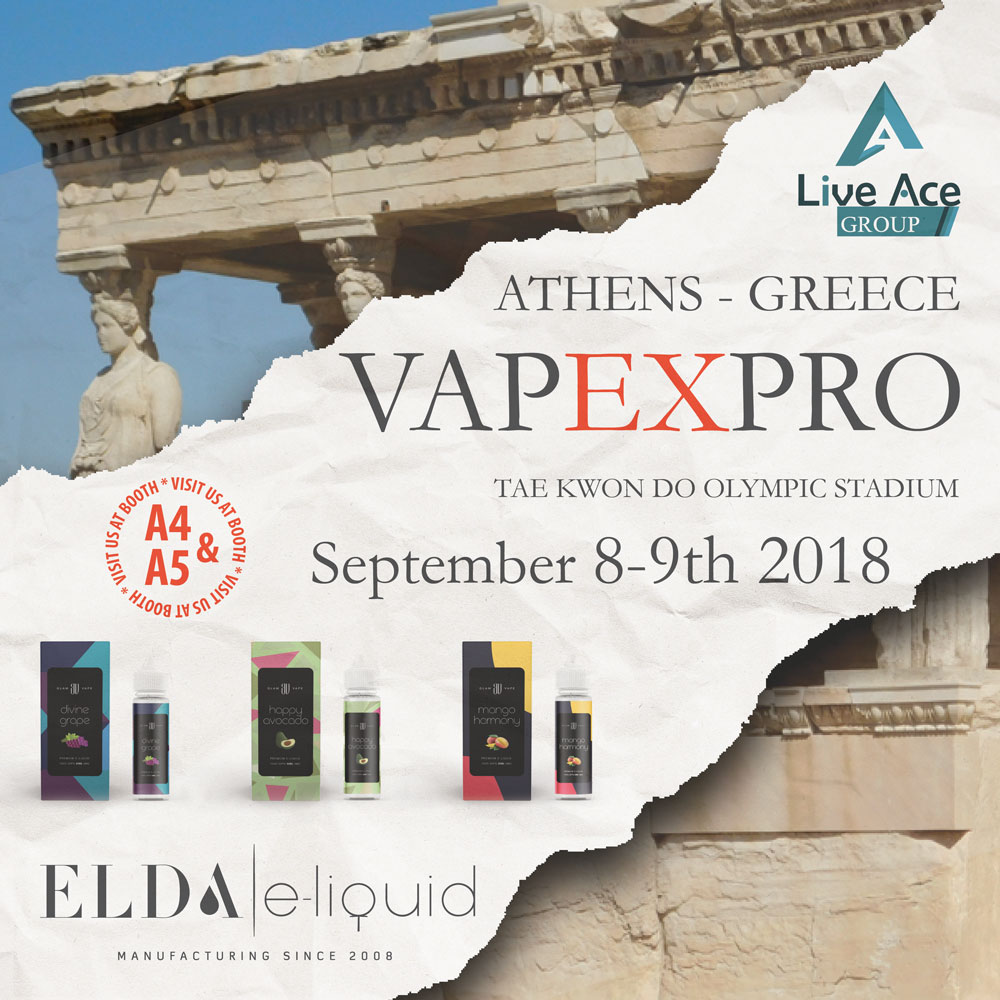 Meet us at VapExpro in Athens