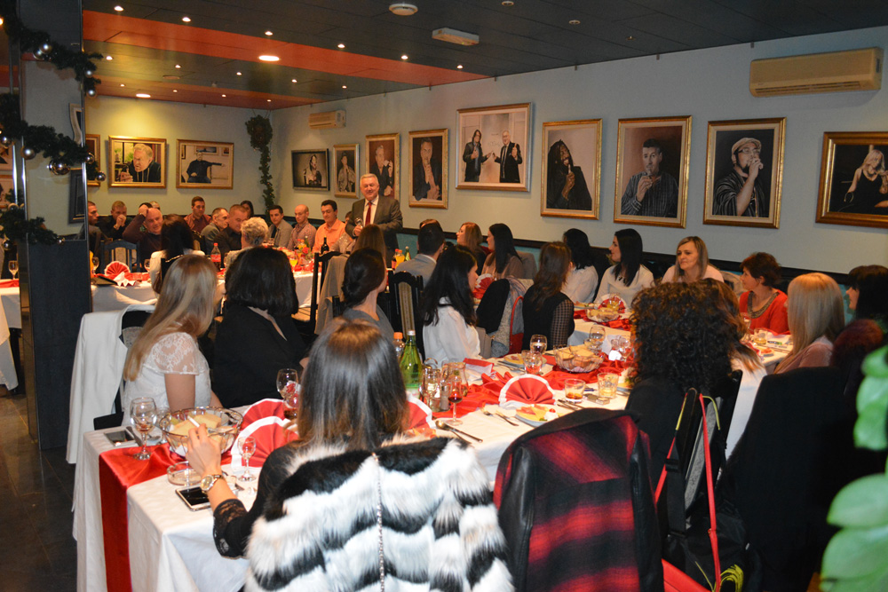 Christmas party and the opening of the exhibition of paintings