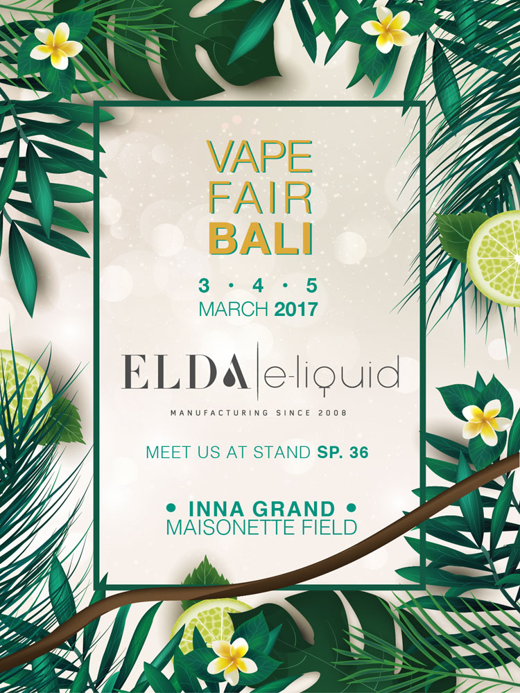 Elda at Vape Fair Bali, Indonesia