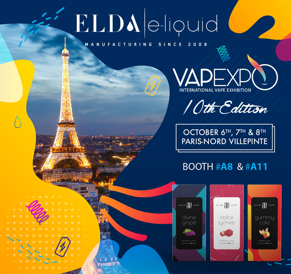 Visit Elda team at VAPEXPO, PARIS