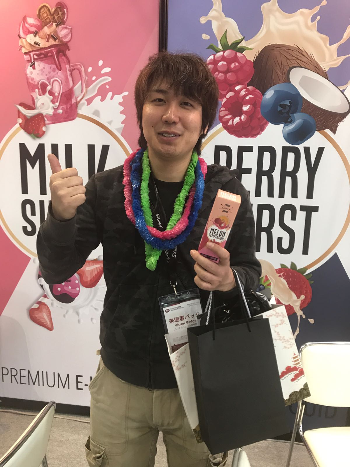 First day at Vape Expo Japan