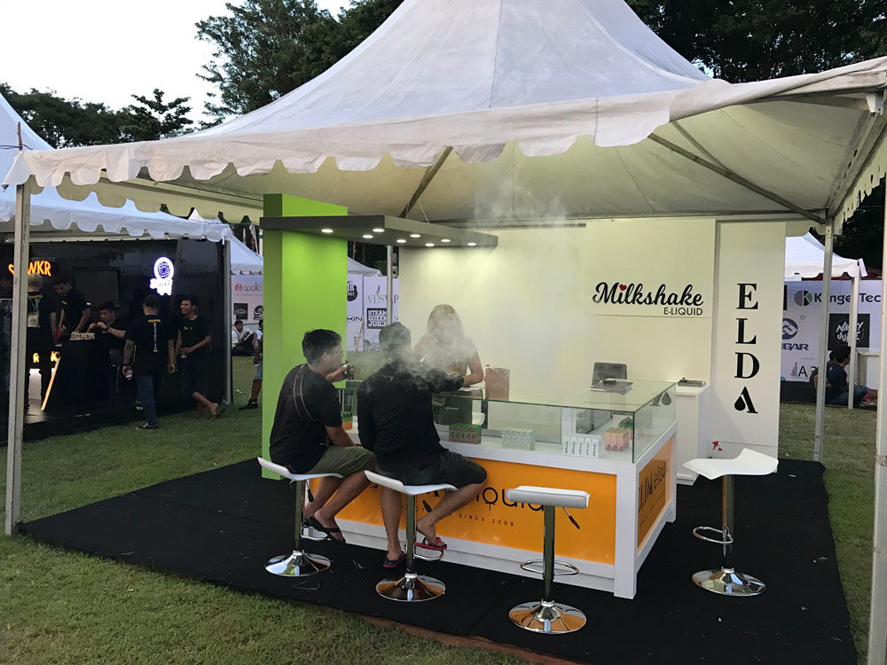 Elda at Vape Fair, Bali