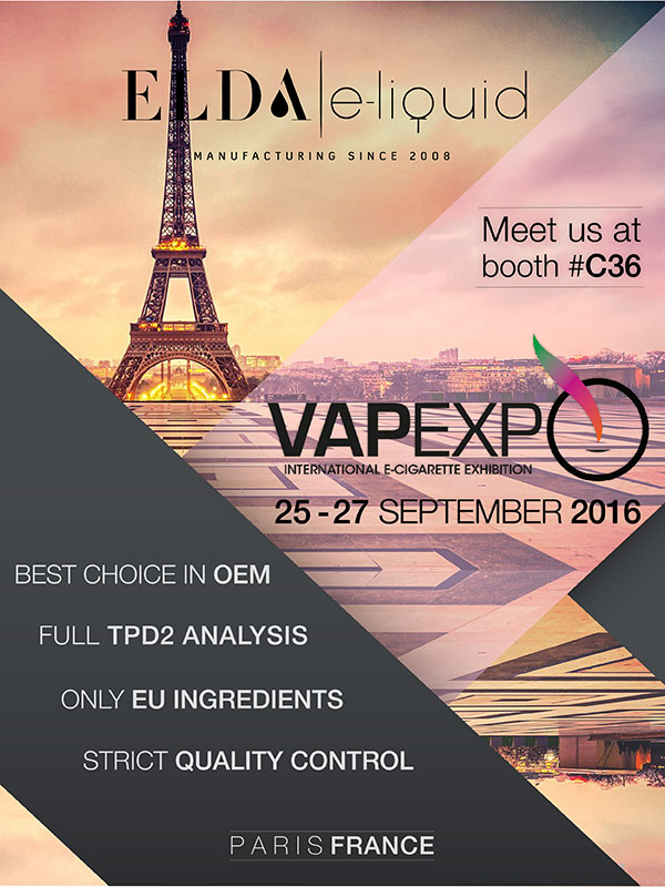 ELDA at Vapexpo, Paris