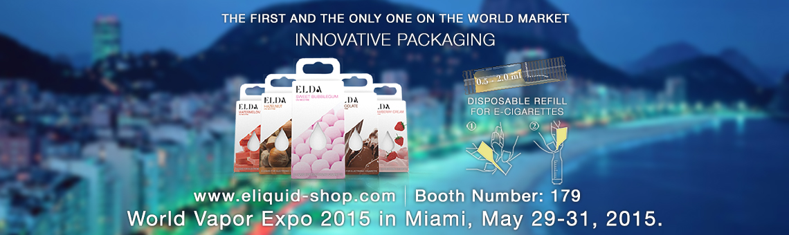 Meet us at the WORLD VAPOR EXPO – Miami, May 29-31, 2015.