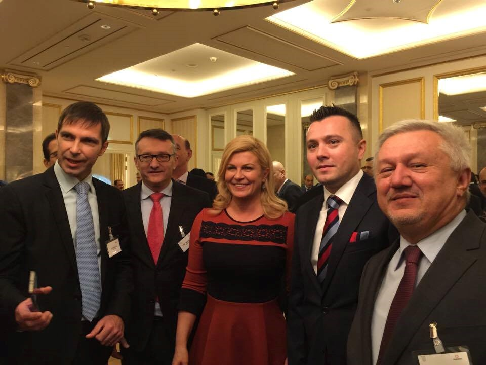 Dario Marenic, together with Croatian president Kolinda Grabar Kitarović, visited Azerbaijan