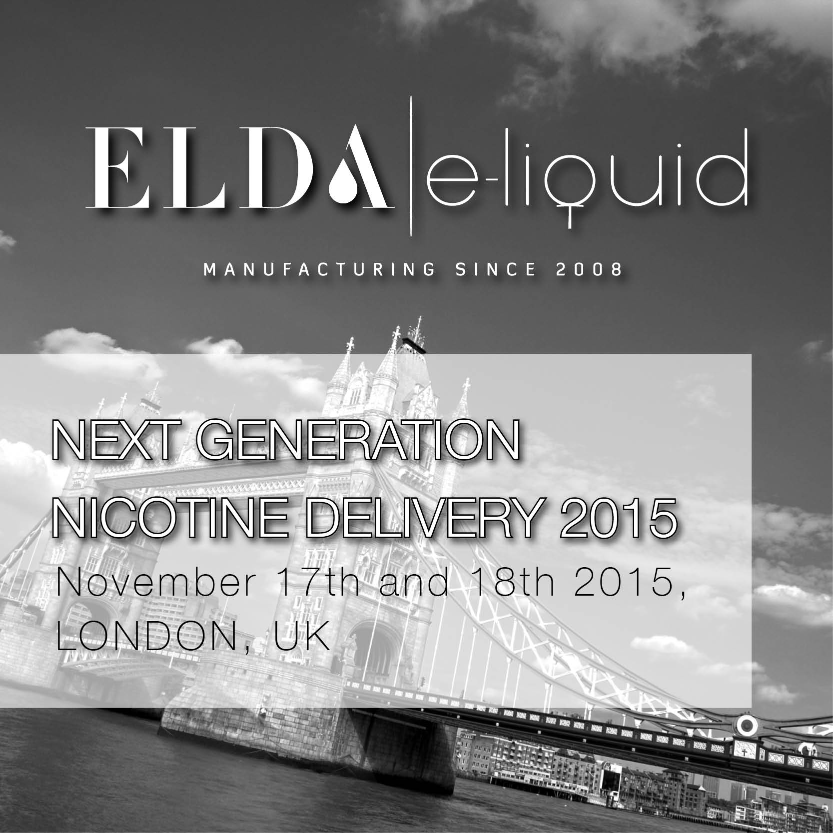 ELDA is sponsoring 2nd Next Generation Nicotine Delivery Conference in London