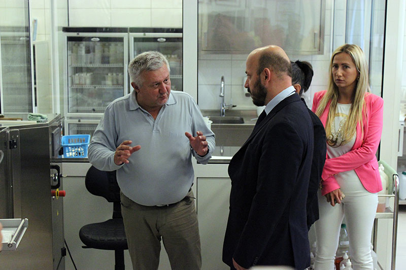The Croatian Minister of Entrepreneurship and Crafts, Mr Gordan Maras, visit the company ELDA Ltd.