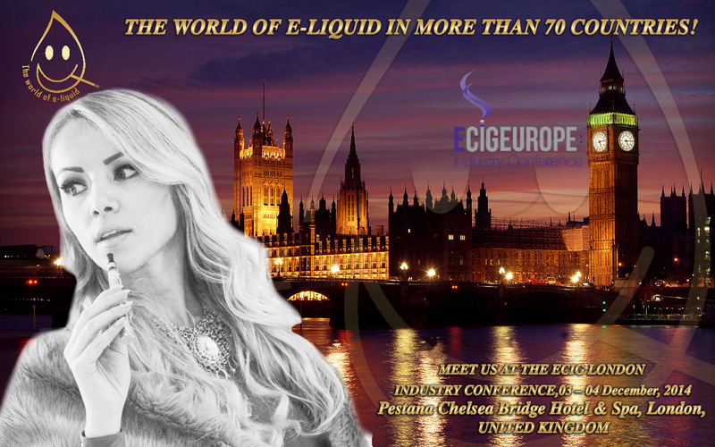 Meet us at eCig London Industry Conference, December 03 - 04 2014, London, United Kingdom