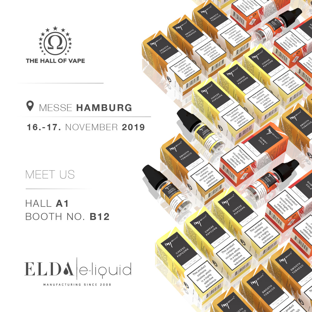 Visit Elda at Hall of Vape in Hamburg