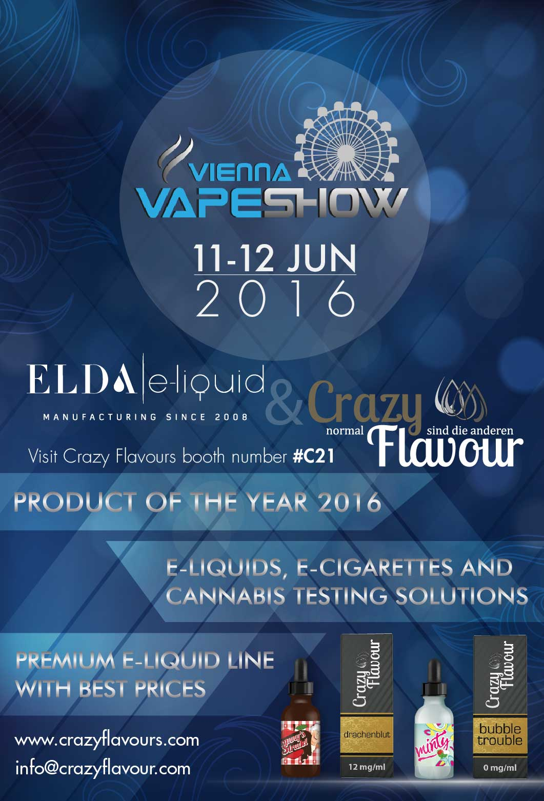 Visit us at Vienna Vape show 2016