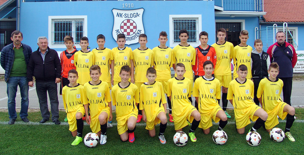 "Elda is sponsoring older juniors of FC ""Sloga"" Nova Gradiska"