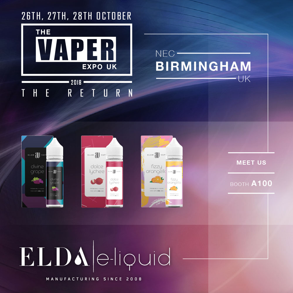 Meet us at the Vaper Expo in Birmingham