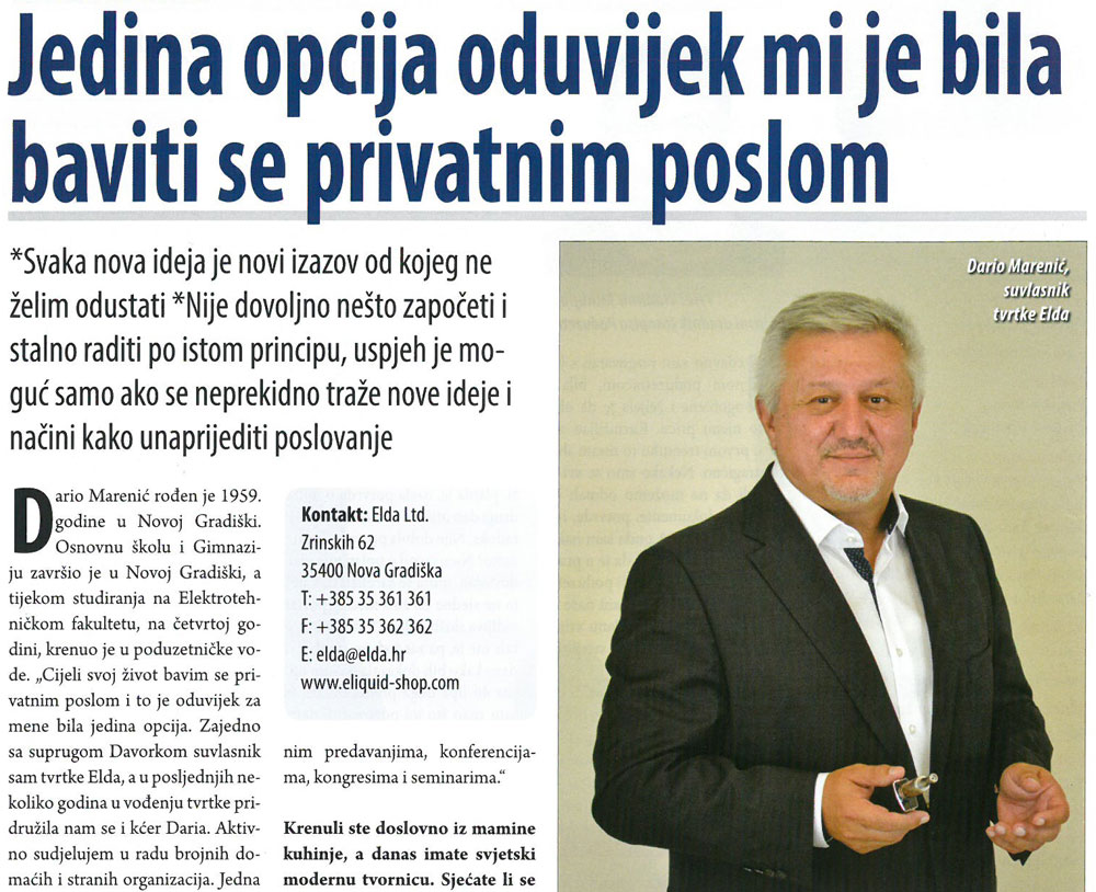 Article in Poduzetnik magazine