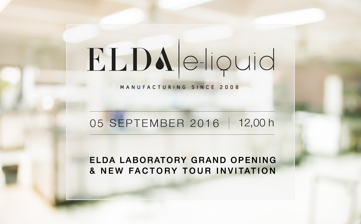 ELDA Laboratory GRAND OPENING & NEW factory tour INVITATION
