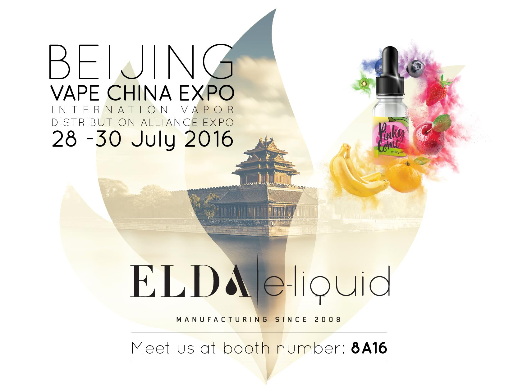 Meet ELDA at Beijing VAPE CHINA EXPO, 28-30 July 2016