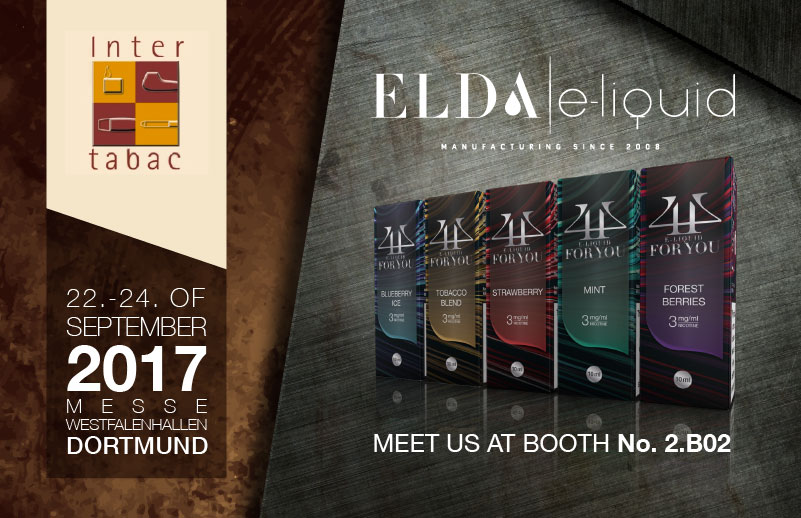 Come and meet the Elda team at InterTabac, Dortmund