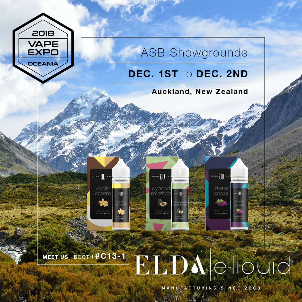 Elda at Vape Expo Oceania, 2018.