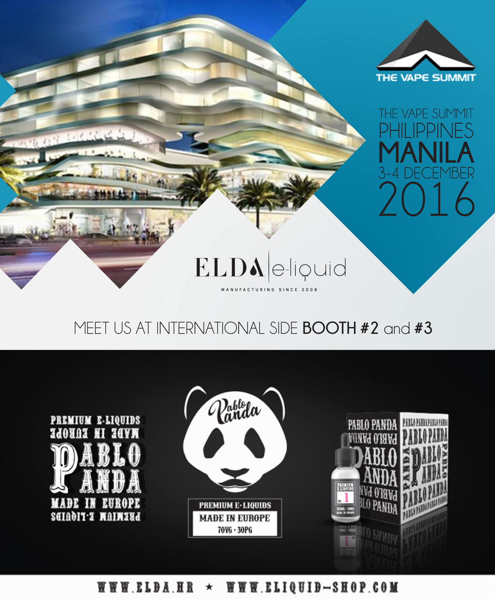Meet ELDA at Vape Summit, Manila, 3-4 December