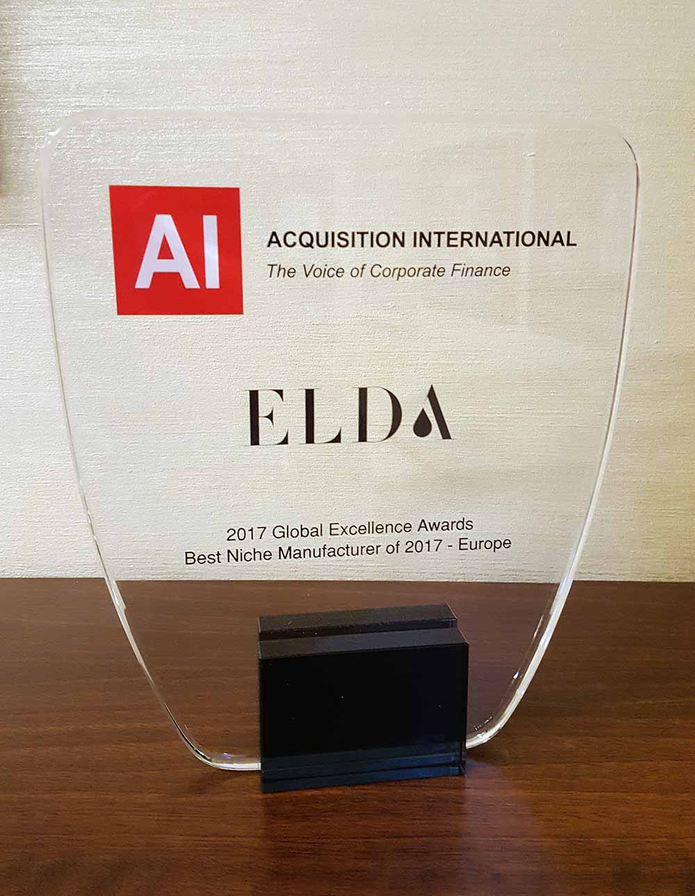 2017 Global Excellence Awards – Best Niche Manufacturer of 2017