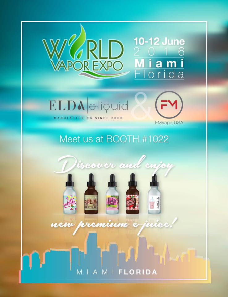 Visit FM Vape & Elda at World Vapor Expo in Miami