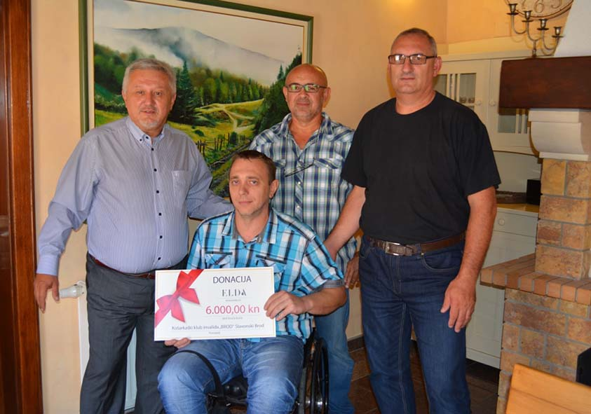 ELDA has donated funds in amount of 6000,00 HRK to Disabled basketball team