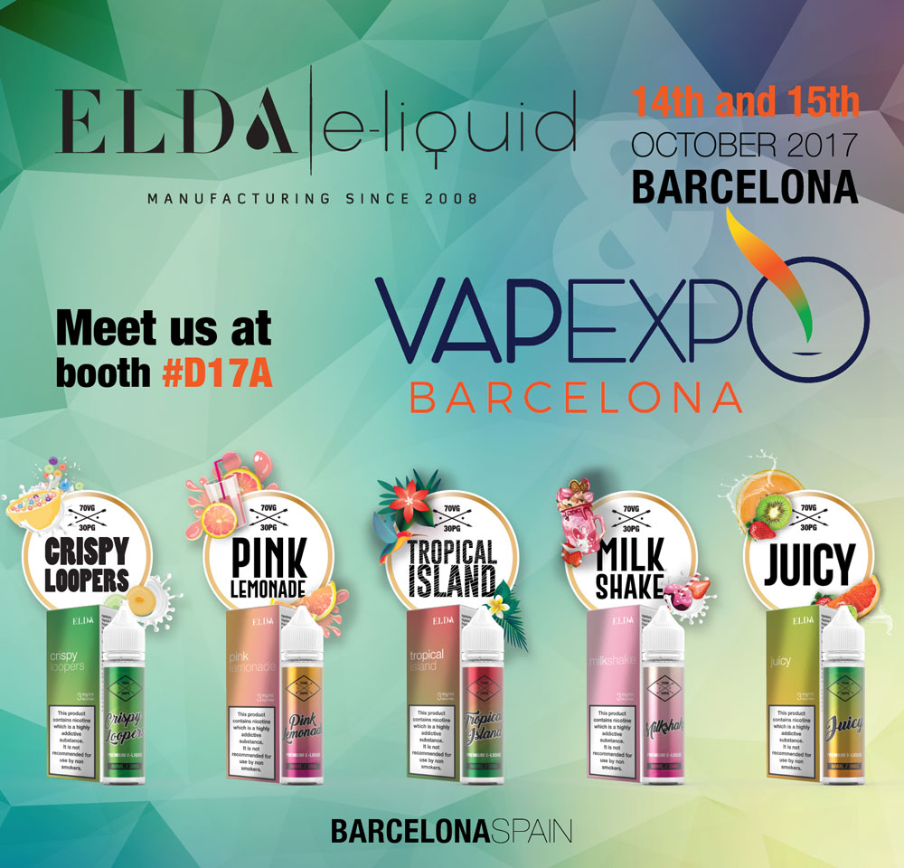 Elda at Vapexpo Barcelona, 14th and 15th October 2017