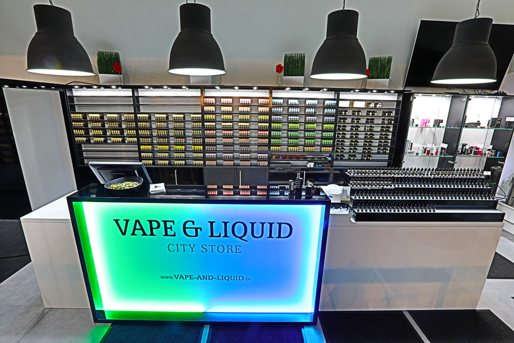 New vape shop in Stuttgart equipped with Elda's e-liquids