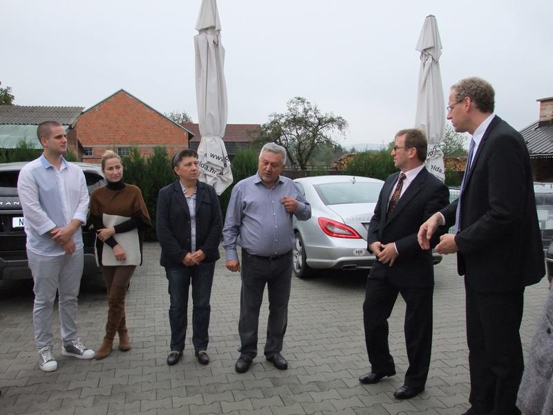 Herzogenaurach's mayor visiting Nova Gradiska and company Elda