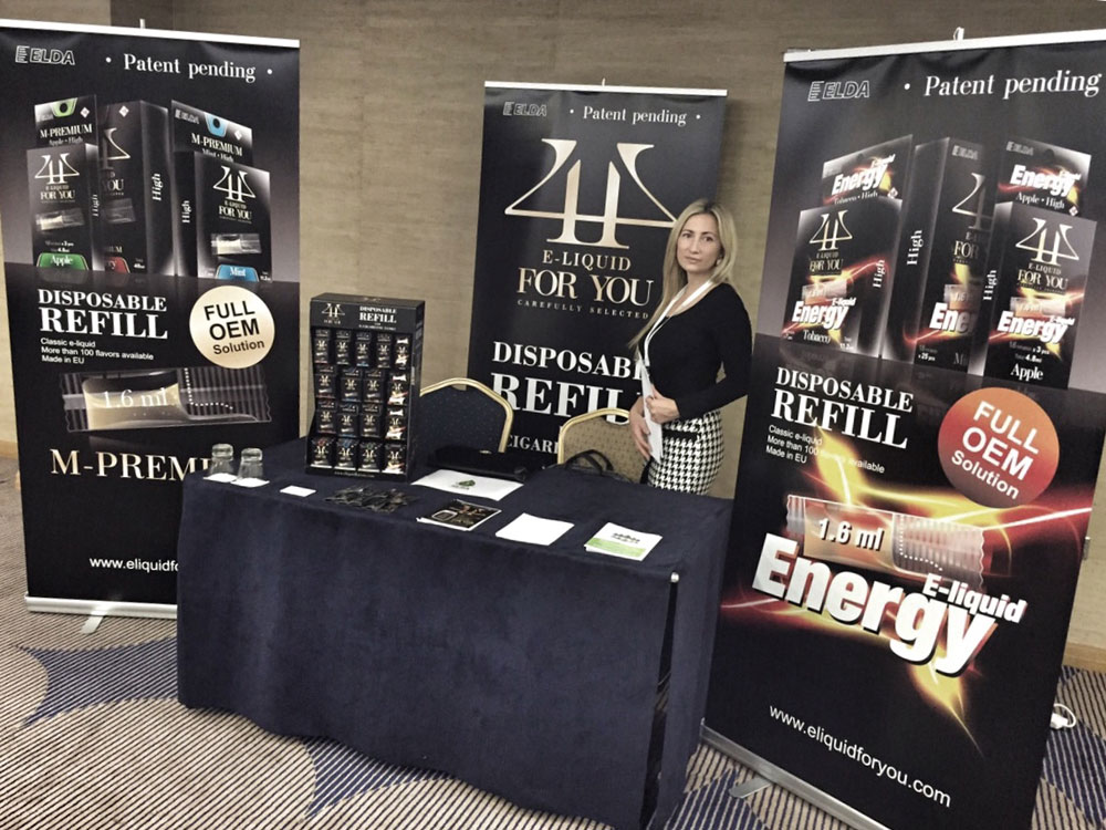 Elda Ltd. presents it's innovative products at Ecig-Europe Industry conference in London