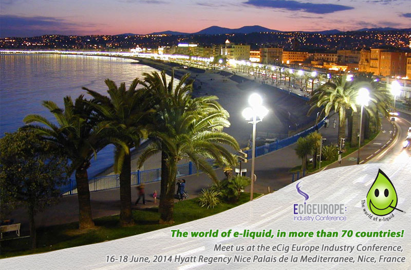 Meet Us at the eCig Europe Industry Conference - Nice - 16-18 June, 2014