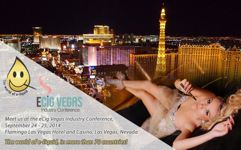 Meet us at the eCig Vegas Industry Conference - Las Vegas,  September 24 - 25, 2014