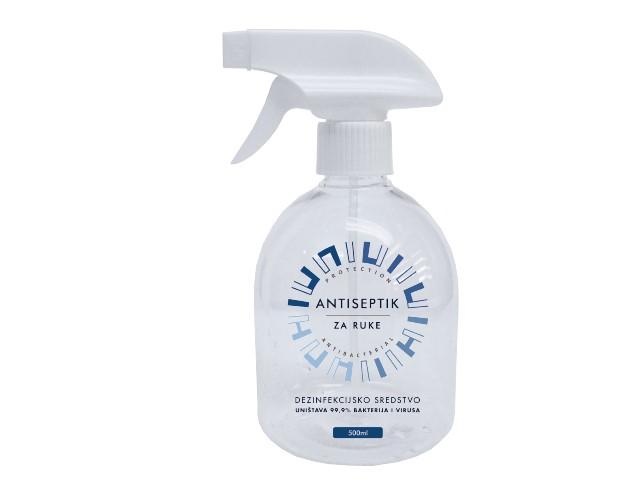 Antiseptik za dezinfekciju ruku sprej 500ml